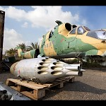 The remains of MI-24 Hind, russian attack helicopter.