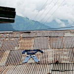 Manali- laundry on the roof