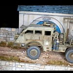 Tank carrier from  WWII, scale 1/35, diorama