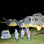 Captured B17  from  WWII, scale; 1/48, diorama