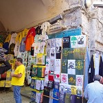 T-shirts in the Christian quarter.