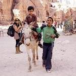 Harry Potter and the donkey of Petra.