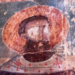 "Ananuri church fresco ,""mutilated"" during the occupation."