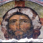 Fresco of Jesus in the Church of the Dormition, Vardzia.